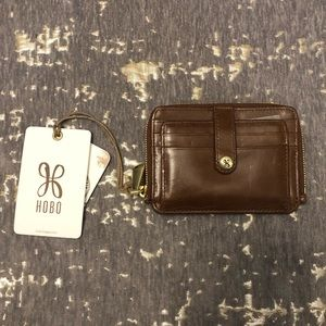 NWT HOBO Katya Cafe Leather Vintage Hide Wallet